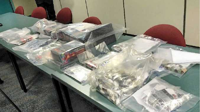 ILLEGAL STASH: Part of the stash seized by police in raids at Love Heart Adult shops in Rockhampton. Stores and private residences also were searched in Mackay, Bundaberg and Toowoomba.