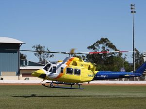 Mother and infant airlifted from Esk after near drowning