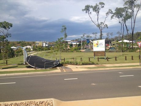 Trampolines flew everywhere at Riverstone Rise. Photo Contributed