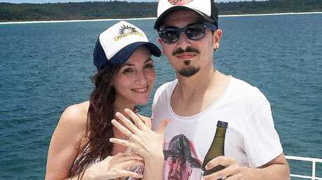 Italian Luca Marsiglia proposed to his girlfriend Beatrice Rizzo on the western coast of Fraser Island.