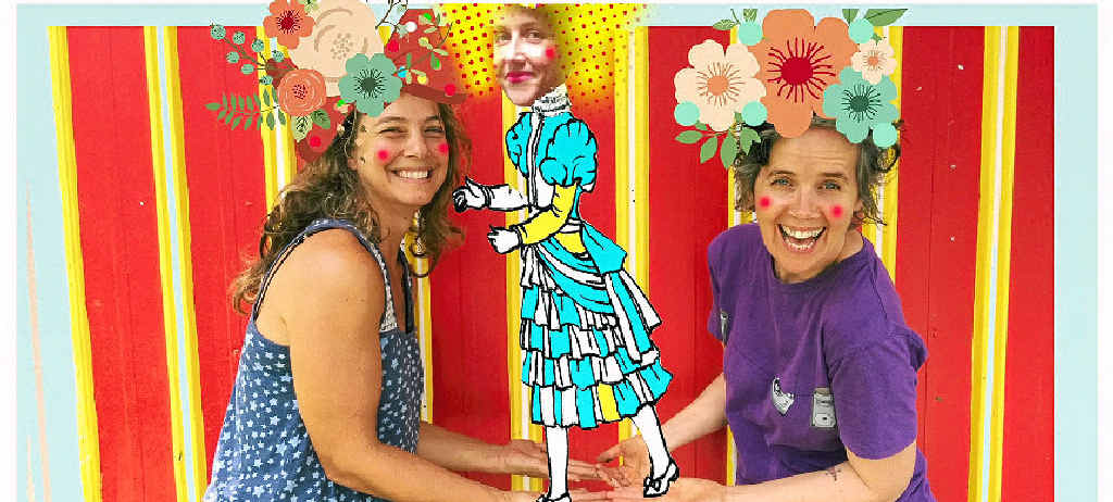 FUN TIMES: Valley Lipcer, Claudie Frock and Gabrielle Griffin will produce a free interactive art event around the Lismore Regional Gallery in the July school holidays.