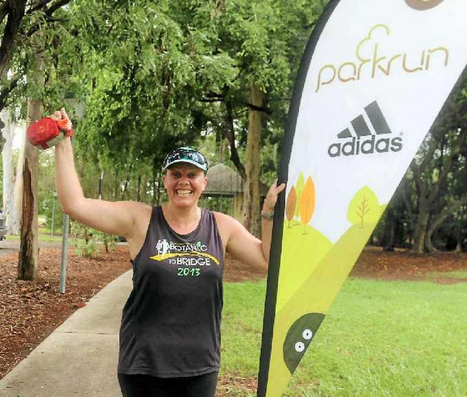 RUNNING FUN: Amanda Hanlon uses parkrun to keep healthy and lose weight.