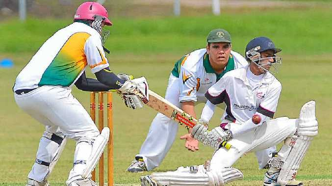 TIGHT ACTION: Waqar Yunus letting a ball go during Yaralla's win over BITS. Yunus took a fantastic catch to turn the match during BITS' innings.