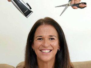 Help Kristine beat her brave shave goal