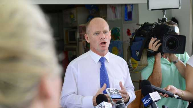 Premier Campbell Newman in Ipswich yesterday.
