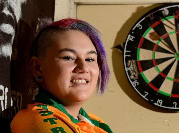 FINE FORM: Tiarna Smith will represent Australia at the Under 18 World Cup of darts in Turkey.