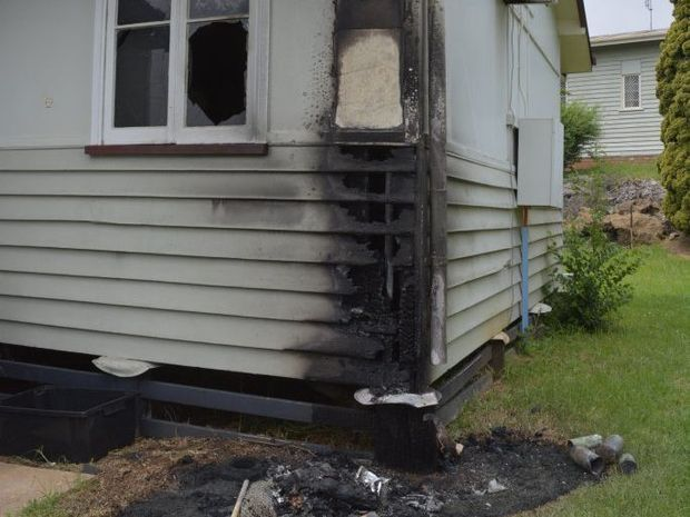 Fanny St resident Mickell Brock's rented duplex was severely damaged after a fire in a wheelie bin spread through her home.