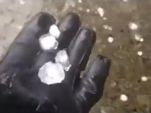 Hail smashes down near Dalby