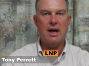 Tony Perrett faces the Pollie Ticker