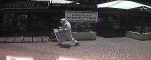 Police release photo of hazmat suit robber