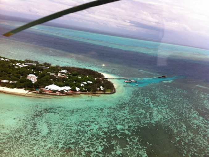 A woman in her 70s was airlifted from Heron Island.