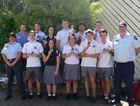 Several students from Maryborough State High School have completed a Certificate II in Public Safety, Firefighting.