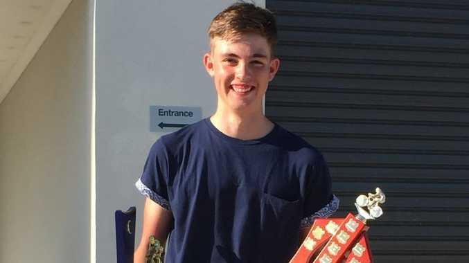 Maryborough's Thomas Hodge, 15, was named Fraser Coast Cycling Club's 2014 club champion on Sunday.