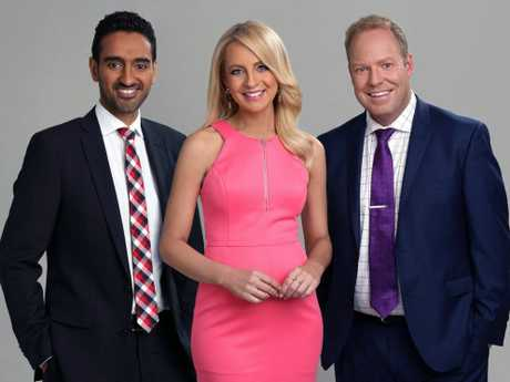 The Project's Waleed Aly, Carrie Bickmore and Peter Helliar.