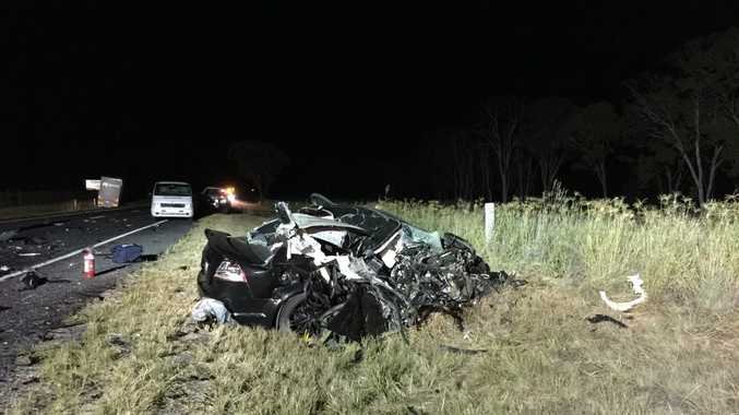 A man has been killed after a head on crash with a truck tonight.