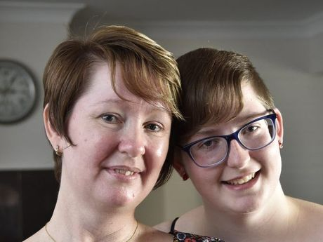 SEIZE THE DAY: Penelope and her daughter Vanessa Chapman were in a car crash which led to Penelope's cancer diagnosis.