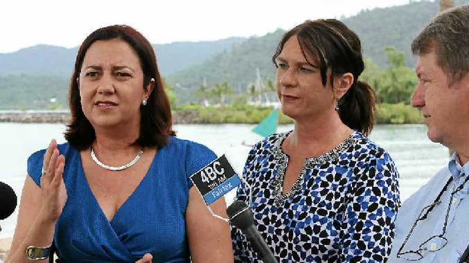 ELECTION PROMISES: Leader of the Opposition Annastacia Palaszczuk was flanked by Whitsunday Labor candidate Bronwyn Taha while she made a series of tourism-focused election promises last Thursday in Airlie Beach.