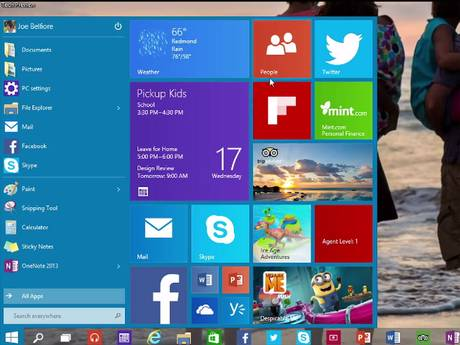 The new Windows 10 Start Menu