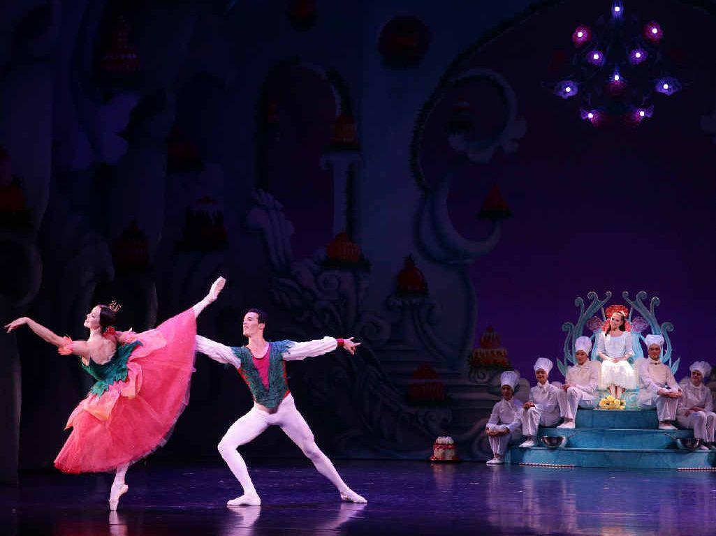 TOP ACT: Two of the dancers – Eleanor Freeman and Emilio Pavan – in Waltz of Flowers.