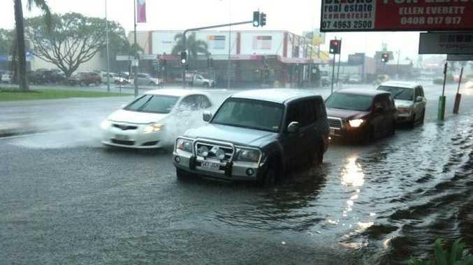 Heather Glasziou captured the flash flooding on Gordon St, Mackay.