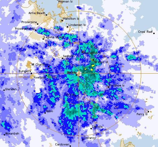BOM radar at noon on 22/01/15.