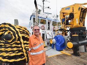 Tug boat skipper takes a well-earned break