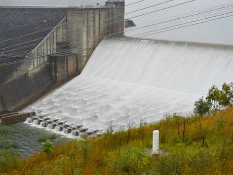 The spillway at Awoonga Dam.