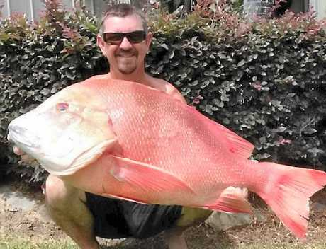 WORTHY CATCH: Garry Rayner with his 13kg red emperor from last weekend.