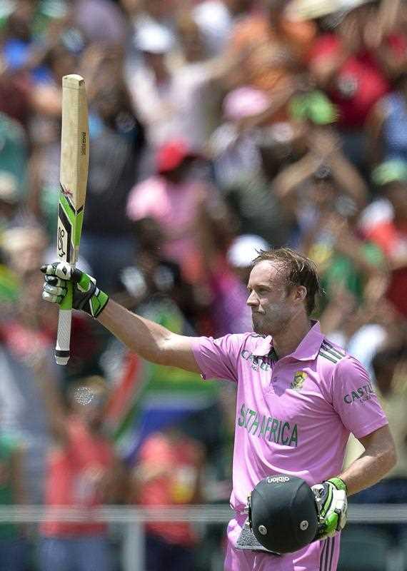 South African batsman AB de Villiers
