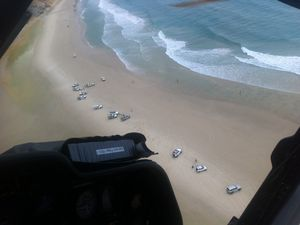 Surfer thrown from board airlifted from Rainbow Beach
