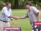 STOREY BEGINS: Kerry Shine and Graham Storey at the Graham Storey campaign launch . Saturday, Jan 24, 2015 . Photo Nev Madsen / The Chronicle