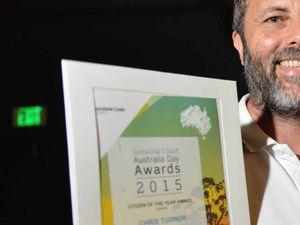 Chris Turner honoured: Sunshine Coast Australia Day Awards