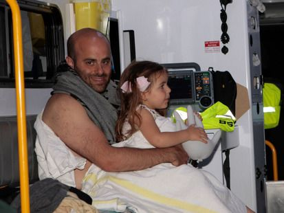 The family went to Auckland City Hospital by ambulance.