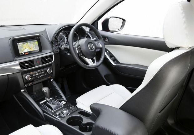 Inside the range-topping Mazda CX-5.