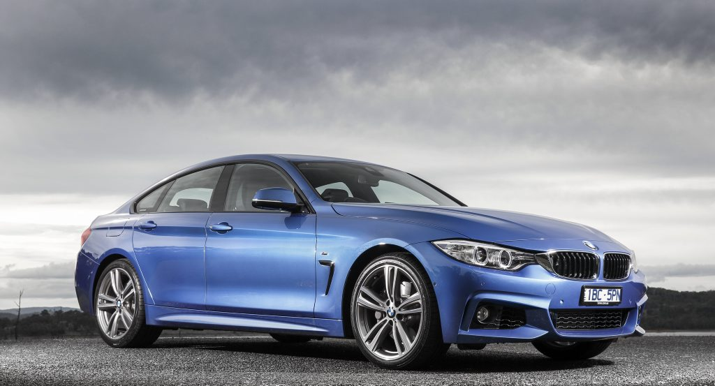 The BMW 428i gran coupe.