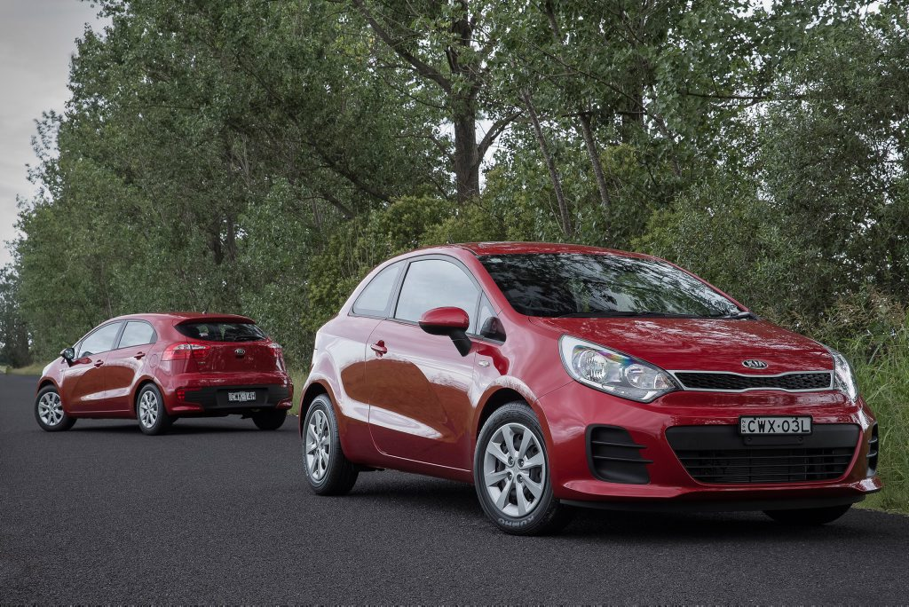 The Kia Rio has been upgraded for 2015.