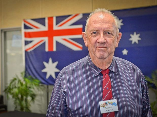 Bruce Hunt, winner of the 2015 Gladstone Regional Council Citizen of the Year.