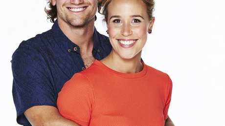 The Block Triple Threat contestants Josh and Charlotte from Sydney. Supplied by Channel 9.