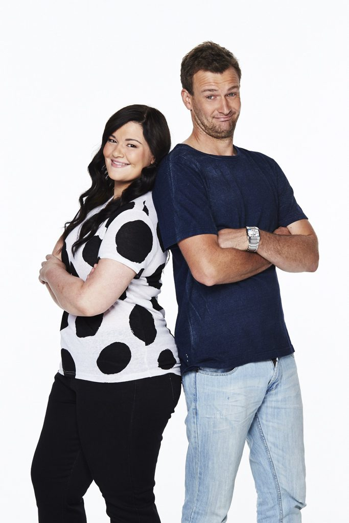 The Block Triple Threat contestants Ebony and Luke from Busselton. Supplied by Channel 9.