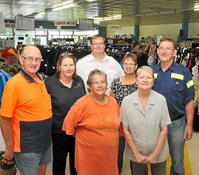 HELP NEEDED: Salvation Army volunteers (back, from left) Samol Calac, Merida Mark, Lieutenant Chris Ford, Coral Wilson, Bryan Horton, (front) Margaret Fulloon and Della Fraser are in need of more helpers.