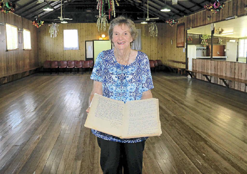HAPPY PLACE: Postmans Ridge Pioneers Memorial Hall secretary Ruby Jensen is helping mark the hall's 80th anniversary.