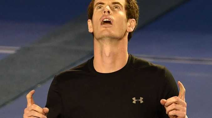 Andy Murray celebrates his win over Grigor Dimitrov. He will now face Australian Nick Kyrgios