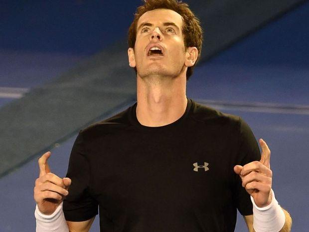 Andy Murray celebrates his win over Grigor Dimitrov. He will now face Australian Nick Kyrgios
