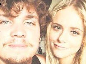 Jay Bastow with his girlfriend Rhiannon Barrett.