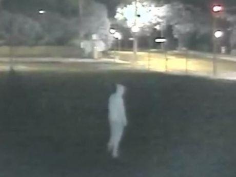 The arsonist caught on CCTV camera.