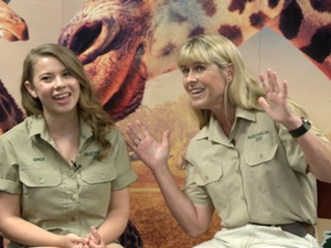 Bindi and Terri Irwin's mystery dinner guests