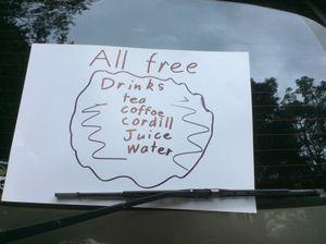 Free drinks!