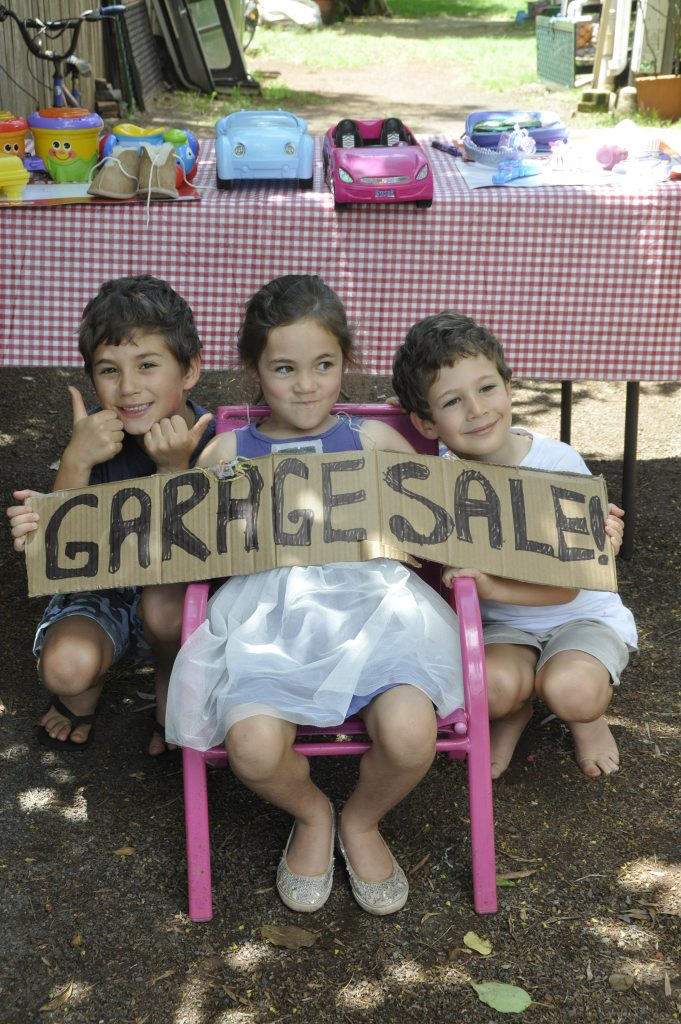 Little entrepreneurs Ethan, Isabella and Jacob Rosier.