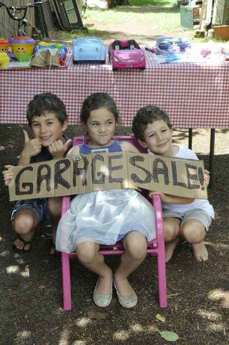 Little entrepreneurs Ethan, Isabella and Jacob Rosier.
