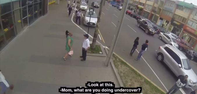 A still from a Peruvian video going viral,